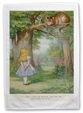 Alice in Wonderland - Cheshire Cat Tea Towel Sjove ting