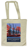 The Waterfront Cranes in Bristol Tote Bag Draagtas