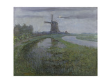 Mill Along the River Gein by Moonlight Pôsteres por Piet Mondriaan