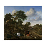 Couple in a Landscape Poster von Adriaen van de Velde