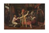 Peasants Sorrow Kunstdrucke von David Vinckboons