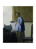 Woman Reading a Letter 高品質プリント : ヨハネス・フェルメール
