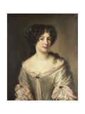 Portrait of Maria Mancini, Duchess of Bouillon Kunstdrucke von Jacob Ferdinand Voet
