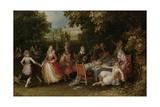 Garden Party (Fete Champetre) Poster von David Vinckboons