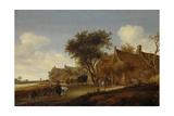 A Village Inn with Stagecoach, Salomon Van Ruysdael Print by Salomon van Ruysdael