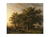Forest Scene Print by Barend Cornelis Koekkoek