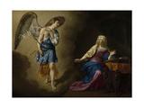 Annunciation, Adriaen Van De Velde Kunstdrucke von Adriaen van de Velde