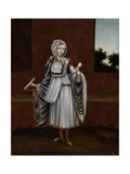Woman from the Island of Kithnos (Thermia) Kunstdrucke von Jean Baptiste Vanmour