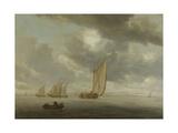 Sailing Vessels on a Inland Body of Water Art by Salomon van Ruysdael