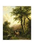 Italian Landscape, Barend Cornelis Koekkoek Art by Barend Cornelis Koekkoek