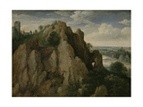 Mountainous Landscape Poster von Lucas van Valckenborch