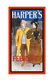 Harper's February Poster by Edward Penfield