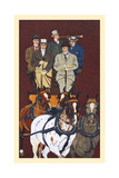 Five Men Riding in a Carriage Drawn by Four Horses Prints by Edward Penfield