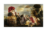 Meeting of Odysseus and Nausicaa Plakater av Jacob Jordaens