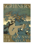 Scribner's Fiction Number. August Kunstdrucke von Maxfield Parrish