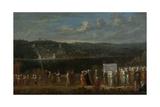 Wedding Procession on the Bosphorus Poster von Jean Baptiste Vanmour