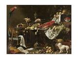 Banquet Still Life Kunstdrucke von Adriaen van Utrecht