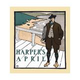 Harper's April Print by Edward Penfield