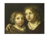 A Daughter and a Son (Constantijn) of the Artist Prints by Caspar Netscher