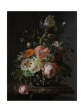 Still Life with Flowers on a Marble Tabletop Plakater av Rachel Ruysch