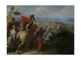 Romans Nearly Overpower the Army of Julius Civilis Through the Treachery of a Batavian Kunstdrucke von Otto van Veen