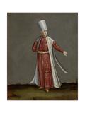Capon Aghassi, Chief of the White Eunuchs of the Sultan Kunstdrucke von Jean Baptiste Vanmour