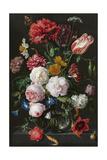 Still Life with Flowers in a Glass Vase Premium gicléedruk van  Jan Davidsz de Heem & Rachel Ruysch