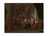 Banquet of Distinguished Turkish Women Poster von Jean Baptiste Vanmour