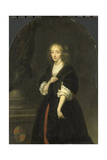 Portrait of Jacoba Bicker, Wife of Pieter De Graeff Art by Caspar Netscher
