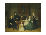 Portrait of the Brak Family, Amsterdam Mennonites Prints by Tibout Regters