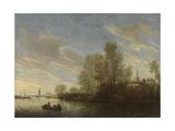 River View Near Deventer, Salomon Van Ruysdael Prints by Salomon van Ruysdael