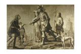 Boudewijn of Heusden and His Wife Sophia Receive Honors from the Envoy of King Edmund Poster von Adriaen Pietersz van de Venne