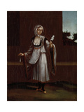 Woman from the Island of Patmos Kunstdruck von Jean Baptiste Vanmour