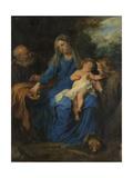 Holy Family with Mary Magdalene Kunstdrucke von Anthony Van Dyck