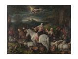 Abraham Leaves Haran Julisteet tekijänä Leandro Bassano