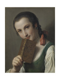 A Young Woman with a Book Posters by Pietro Rotari