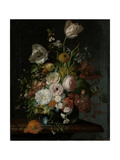Still Life with Flowers in a Glass Vase Plakater av Rachel Ruysch