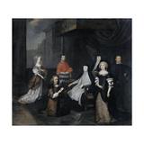 Reception of the Dutch Ambassador Hieronymus Van Beverningk by the Spanish Queen-Regent Maria-Anna Posters by Caspar Netscher