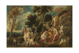 Marsyas Ill-Treated by the Muses Plakater av Jacob Jordaens