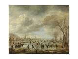 River View in Winter Prints by Aert van der Neer