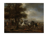 Kicking White Horse Prints by Philips Wouwerman
