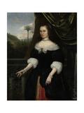 Portrait of Dina Lems, Wife of Jan Valckenburgh Poster von Daniel Vertangen
