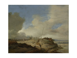 Landscape with a Sign Post Print by Philips Wouwerman