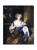 Portrait of Helena Ctaharina De Witte, Wife of Iman Mogge, Lord of Haamstede Prints by Caspar Netscher