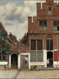 View of Houses in Delft, known as the Little Street ポスター : ヨハネス・フェルメール