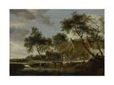 Watering Place Print by Salomon van Ruysdael