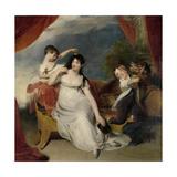 Maria Mathilda Bingham with Two of Her Children Kunst af Thomas Lawrence