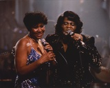 Aretha Franklin Duet in Glitter Dress Candid Photo Foto af  Movie Star News