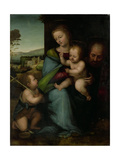 Holy Family with the Infant John the Baptist Plakater af Fra Bartolommeo