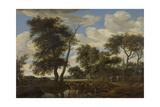 View of a Village, Salomon Van Ruysdael Print by Salomon van Ruysdael